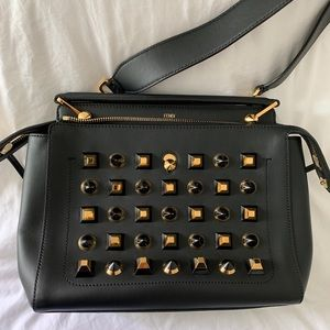 Authentic black studded Fendi bag